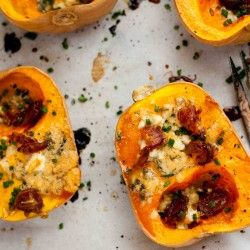 Roasted Squash with Blue Cheese