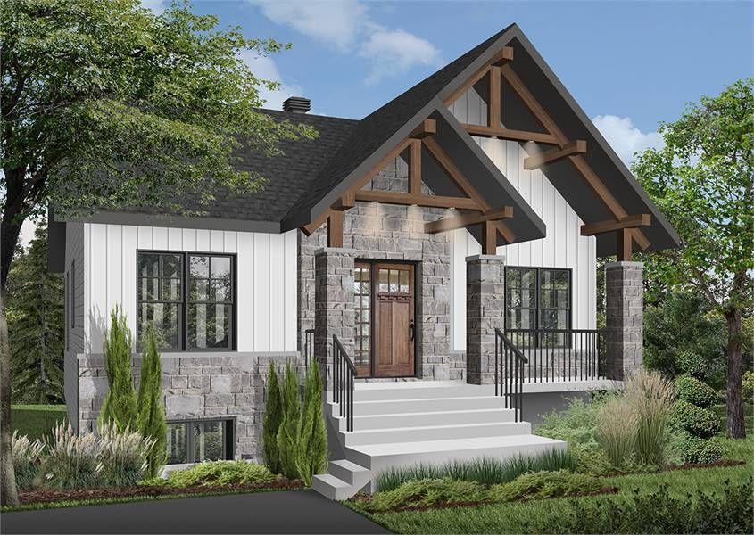 Modern Craftsman Style House Plan 7351 Nordika 2 Craftsman