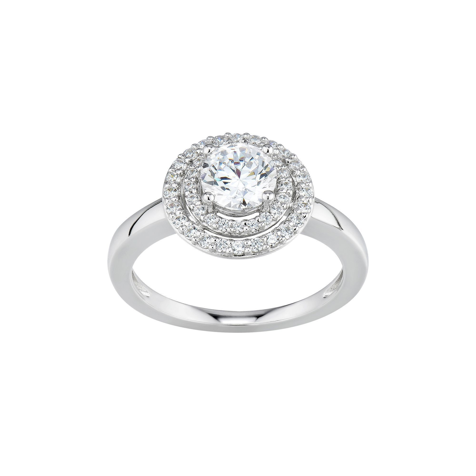 engagement ring stone lassaire diamond faux pin rings three
