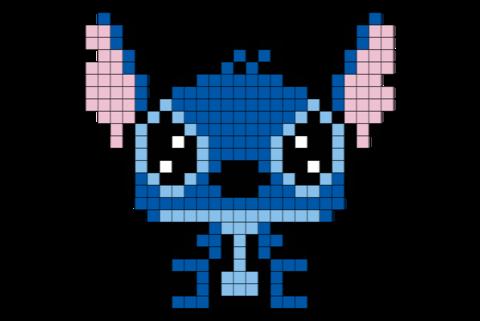 Stitch Disney Pixel Art Pixel Art Graph Paper Art Pixel
