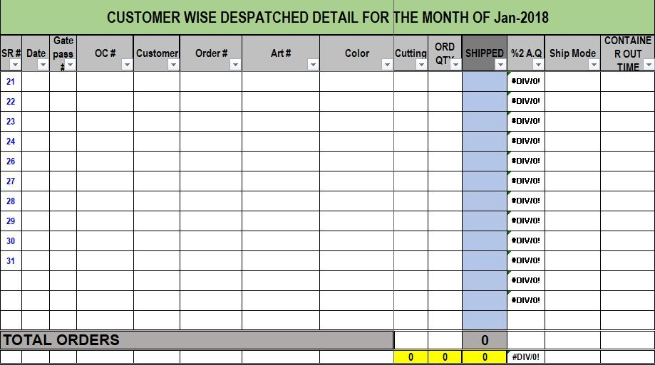 daily dispatch template excel free download