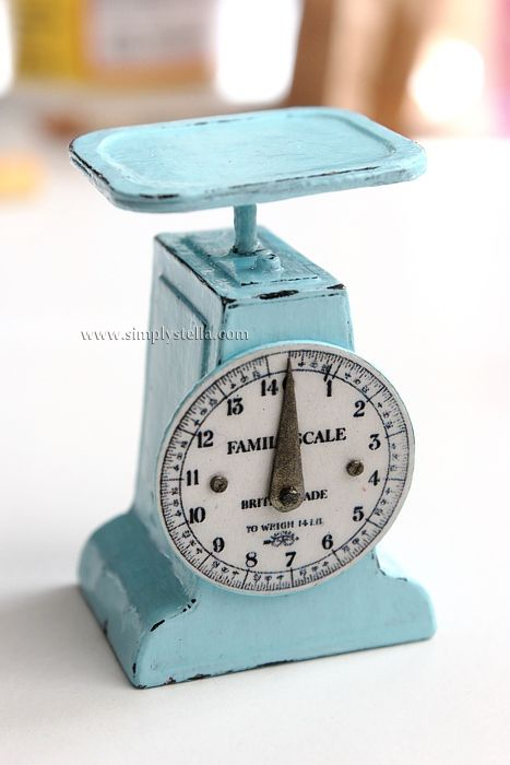Miniature kitchen scale (photos of the step by step process)