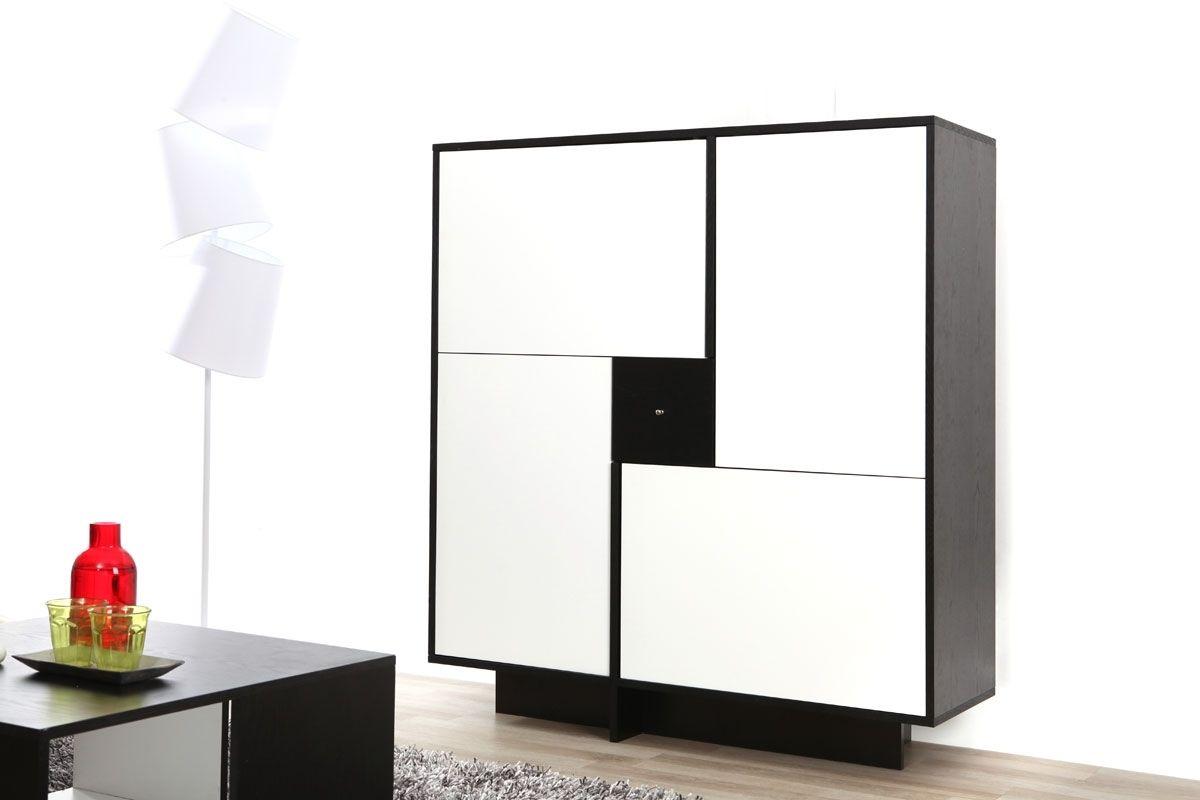 Buffet Miliboo - Buffet design noir et blanc FUTURA | Meuble pas ...