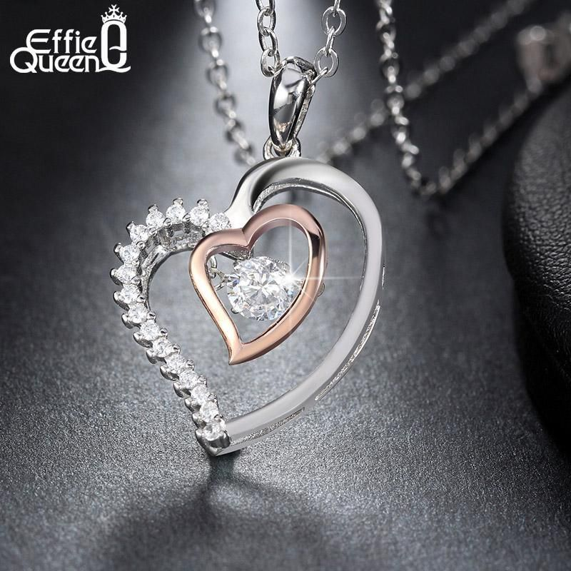 c904a36f23 Effie Queen New Shiny Flickering Design Zircon Crystal Pendant 925 ...