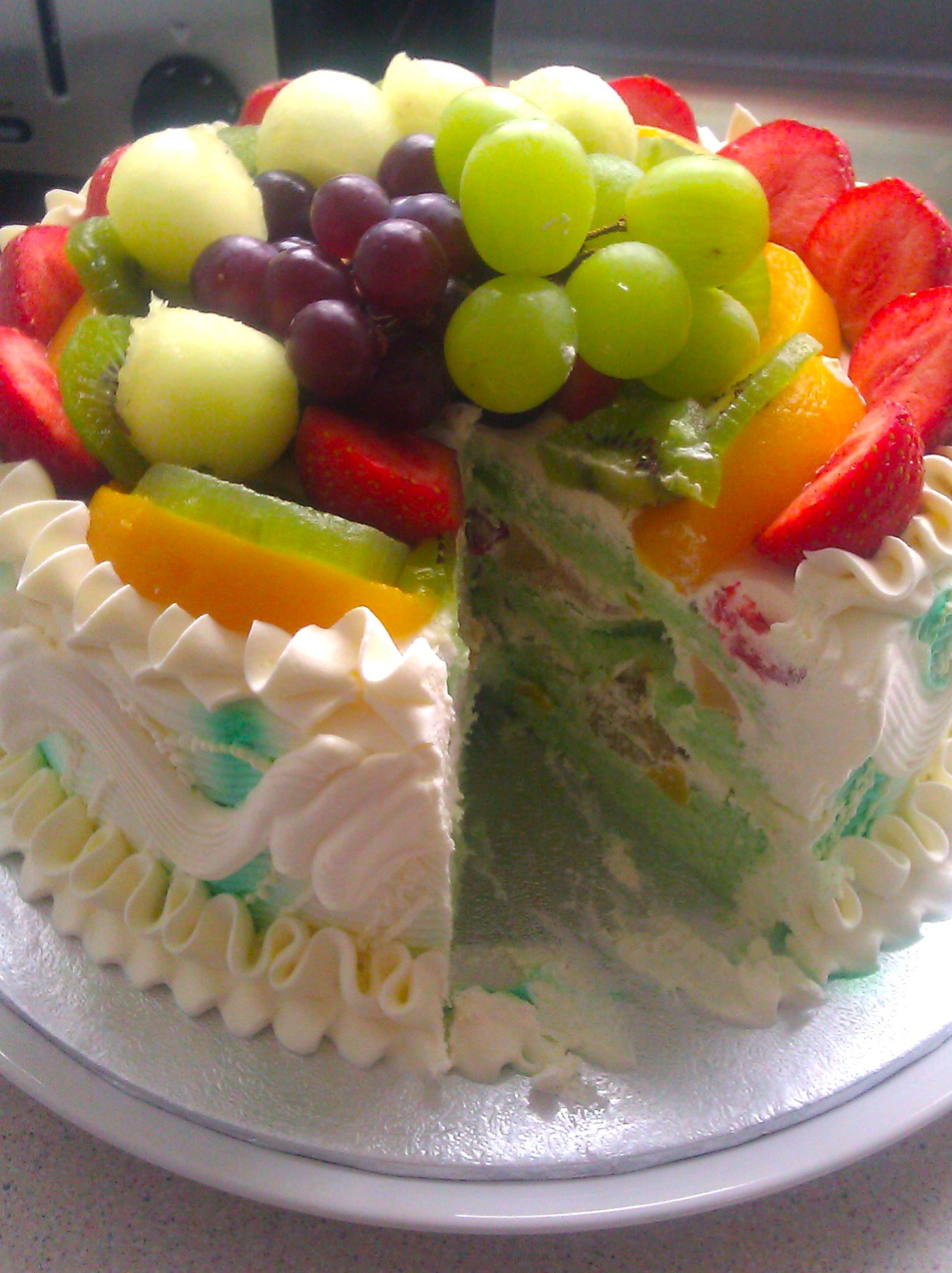 Have you ever seen such a colourful cake? Thanks for sharing your birthday cake with us Shahbhaz .