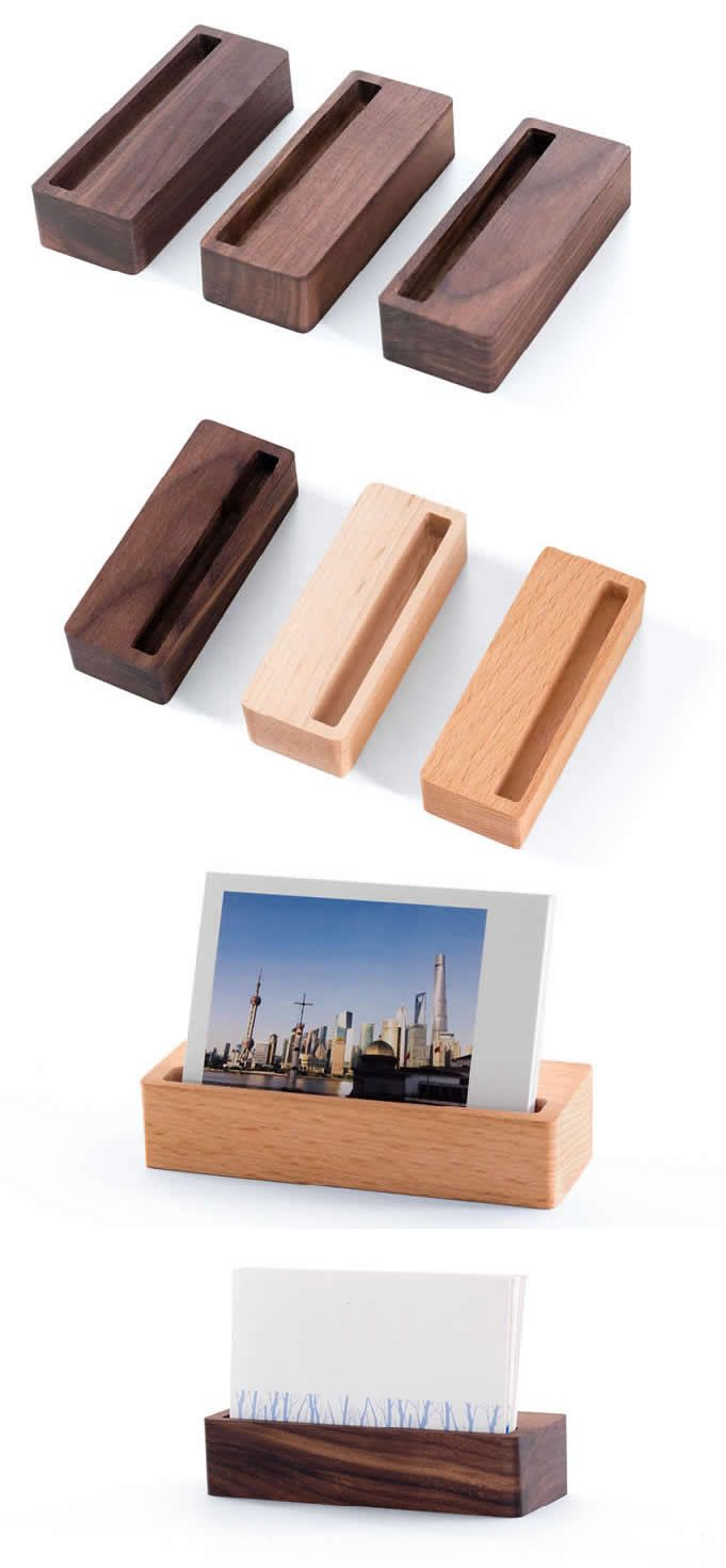 Wooden Wedding Place Card Holders Or Photo Card Holders Business Card Stand Holder Office Wooden Business Card Holder Business Card Stand Wooden Business Card