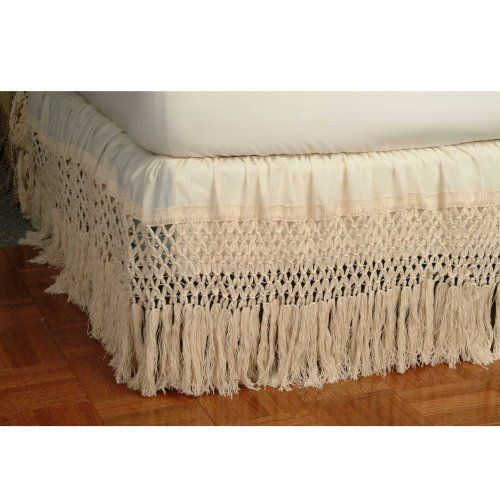 Boho Bed Skirt Could Macrame This One Bedskirt Shabby Chic Bedrooms Home Bedroom Bed skirts for full size bed