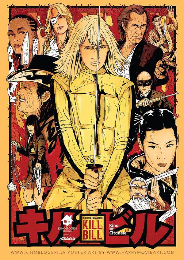Kill Bill Movie Poster Harijs Grundmanis Cartazes De Filmes Classicos Posteres De Filmes Cartazes De Filmes