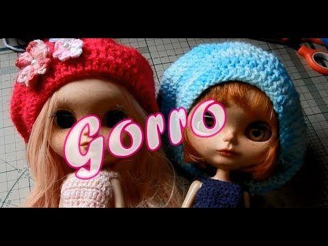 Crochê - Gorro para Blythe modelo 1 - YouTube  5fc4b477664