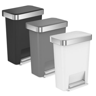 Best Simplehuman® 45 Liter Plastic Rectangular Step Trash Can 400 x 300