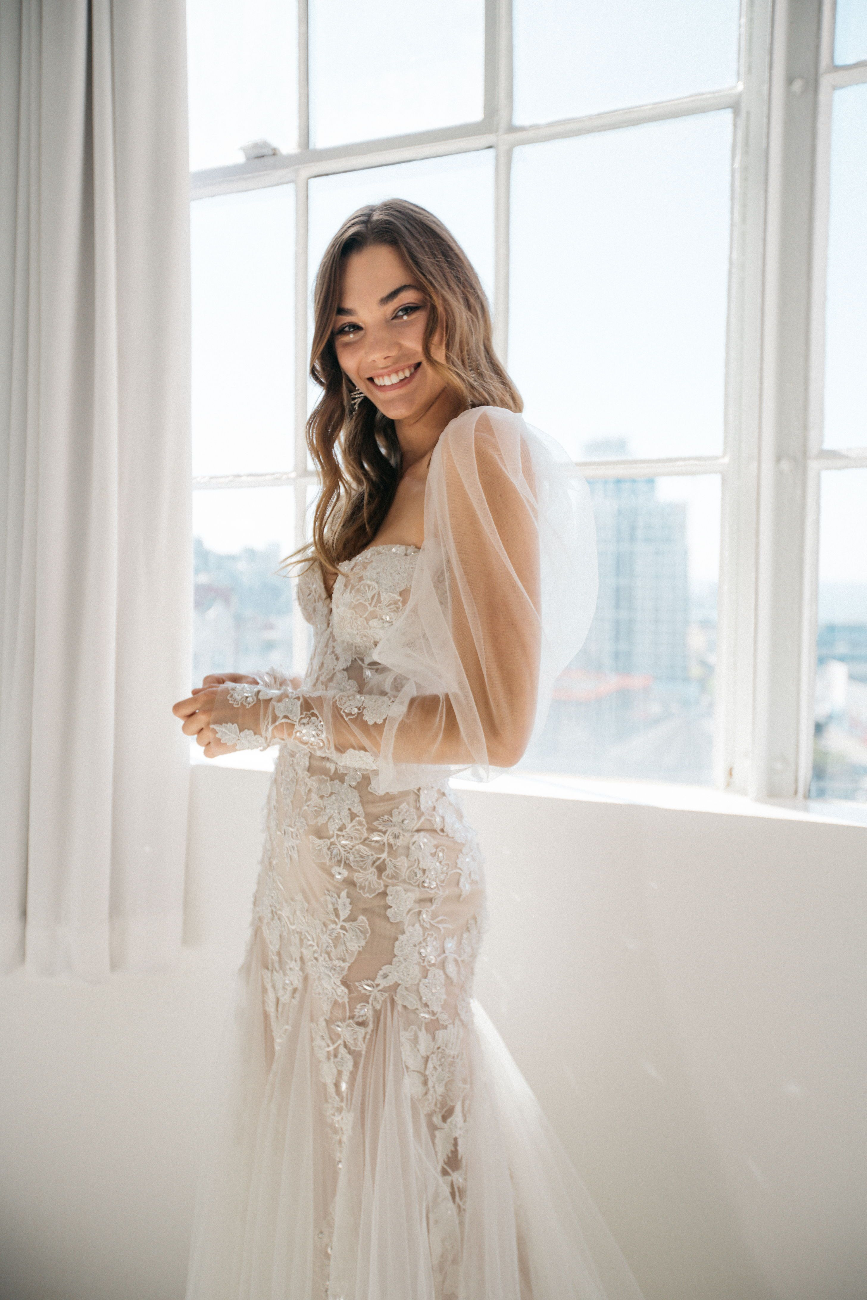 G 409 Wedding Dresses Sheer Sleeves Sheer Wedding Dress Latest Bridal Dresses