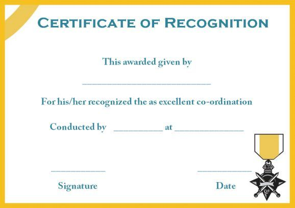 certificate of recognition blank template Certificate Pinterest - best of ordination certificate free