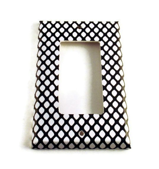 Rocker Light Switch Cover Wall Decor Switchplate Switch Plate in  Fishnet (087R)