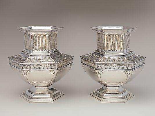 Pair Of Vases Arthur J Stone Gardner Ma 1915 Silver