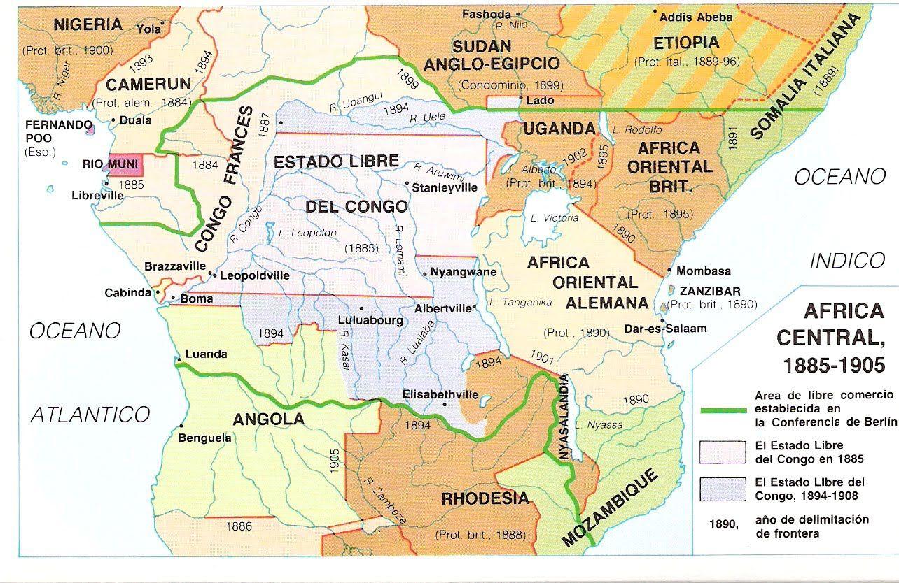 Mapa Mapas Del Colonialismo E Imperialismo Europeo Mapa De