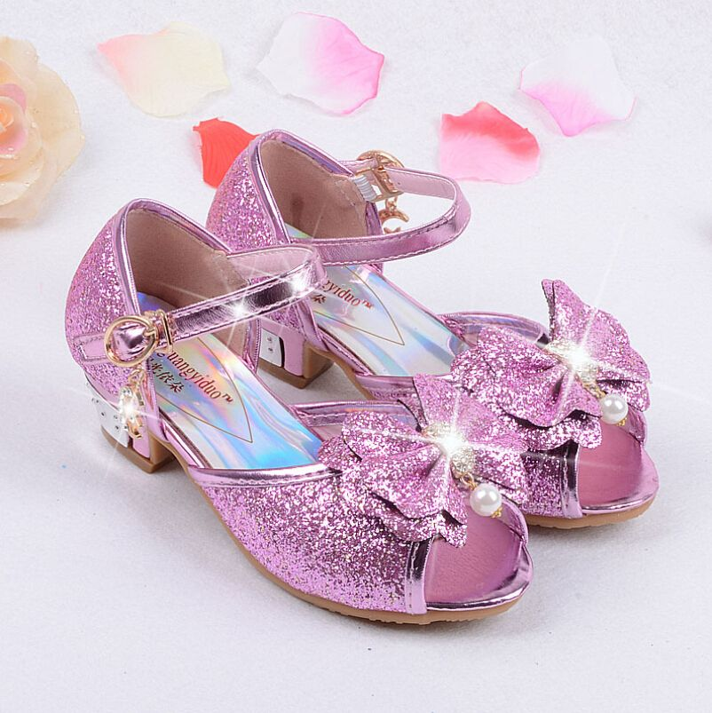 New arrival kids shoes girls shoes cute bow-knot girls sandals kids fashion pearl bling toddler girl sandals kids