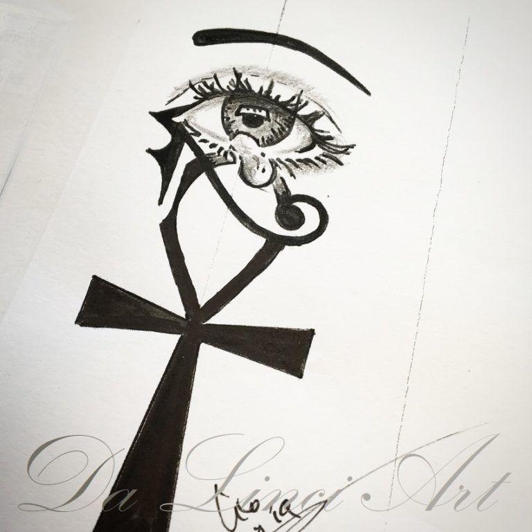 Tekenen Ontwerpen Da Linci Art Ankh Tattoo Tekenen Kruis Tekening