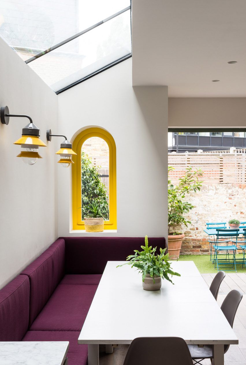 Office S&M uses scale-like tiles and bright colours to update