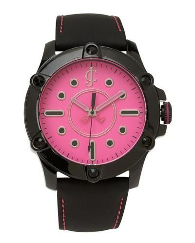 JUICY COUTURE 1900934 Ladies Black and Pink Round Watch