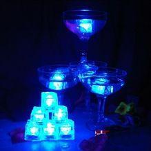 Colorido LED piscando cubos de gelo de luz indução gelo Flash KTV Bar decoração do casamento convites de casamento Free Shopping(China (Mainland))