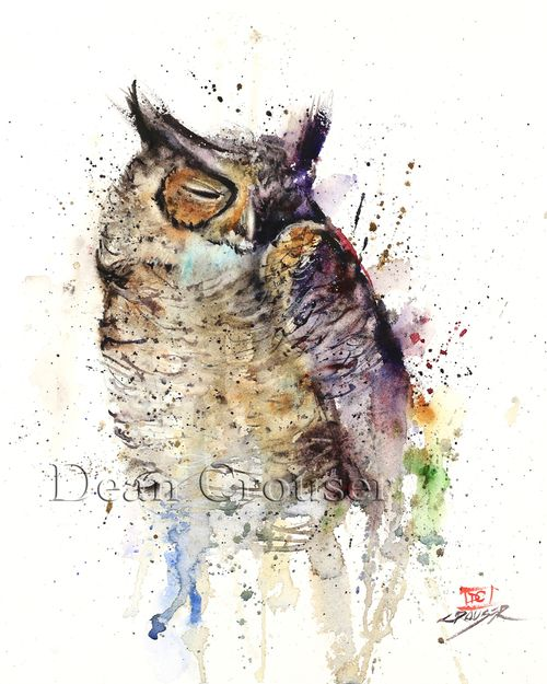 Colorful, bright and exciting ravens, bird and fish watercolor art prints and tiles by Oregon artist Dean Crouser. His work features unique fish, bird, fishing and sporting art paintings and tiles. Some of the most unique bird, fish and sporting art you will find!