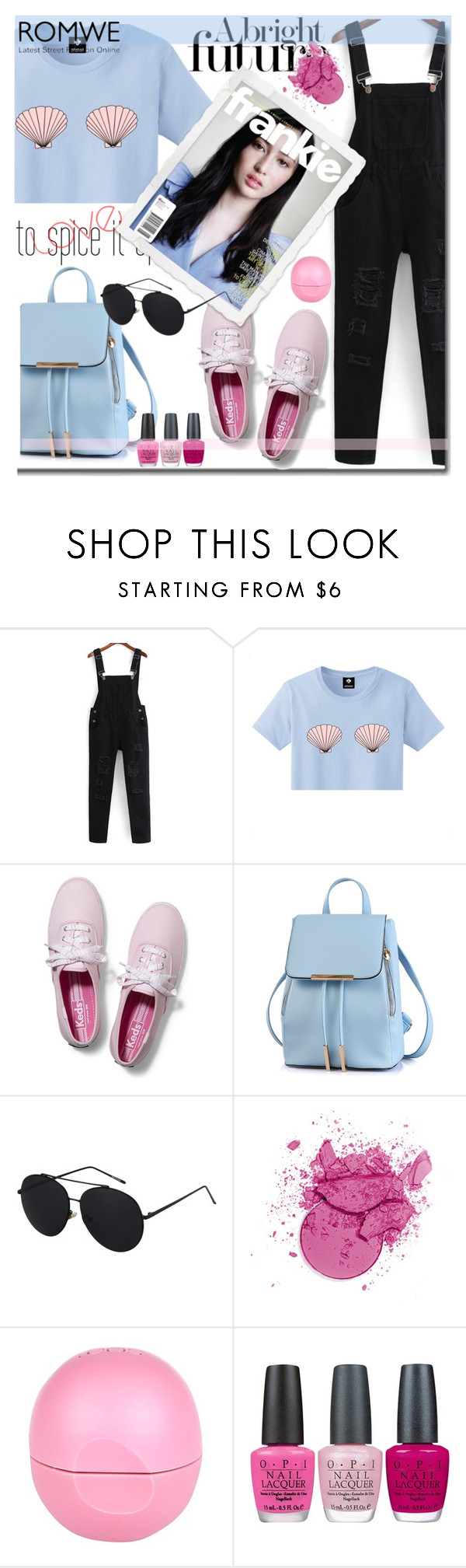 """Happiest Girls Are The Prettiest"" by daizydarling ❤ liked on Polyvore featuring Keds, River Island and OPI"