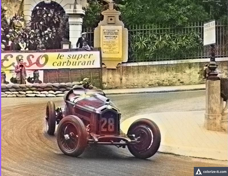 1932 Gp Monaco Tazio Nuvolari Alfa Romeo 8c 2300 Alfa Romeo Alfa Romeo 8c Classic Racing Cars