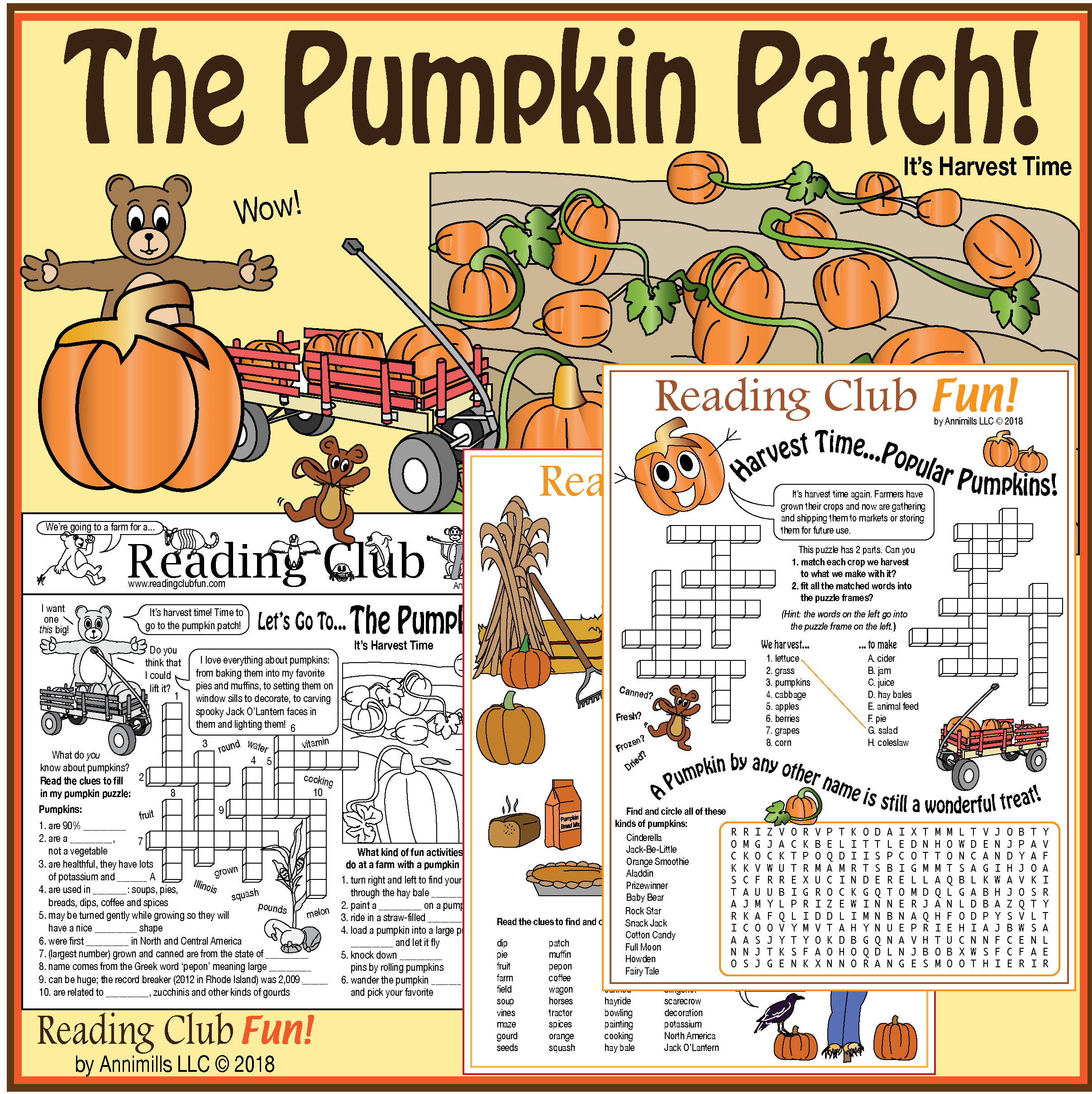 Pumpkin Patch Visiting The Farm Harvest Time Activities