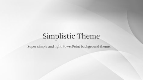 Simplistic Powerpoint Theme  Abstract Powerpoint Templates