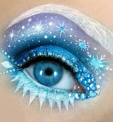 Eye Art Ice Queen Disney Eye Makeup Fantasy Makeup Disney