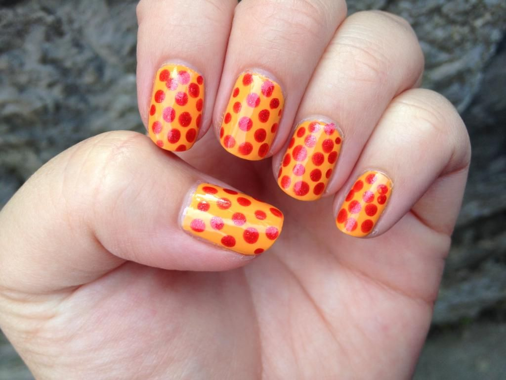 Peperoni Pizza nails featuring Kiko polishes, dotticure | Nails + ...