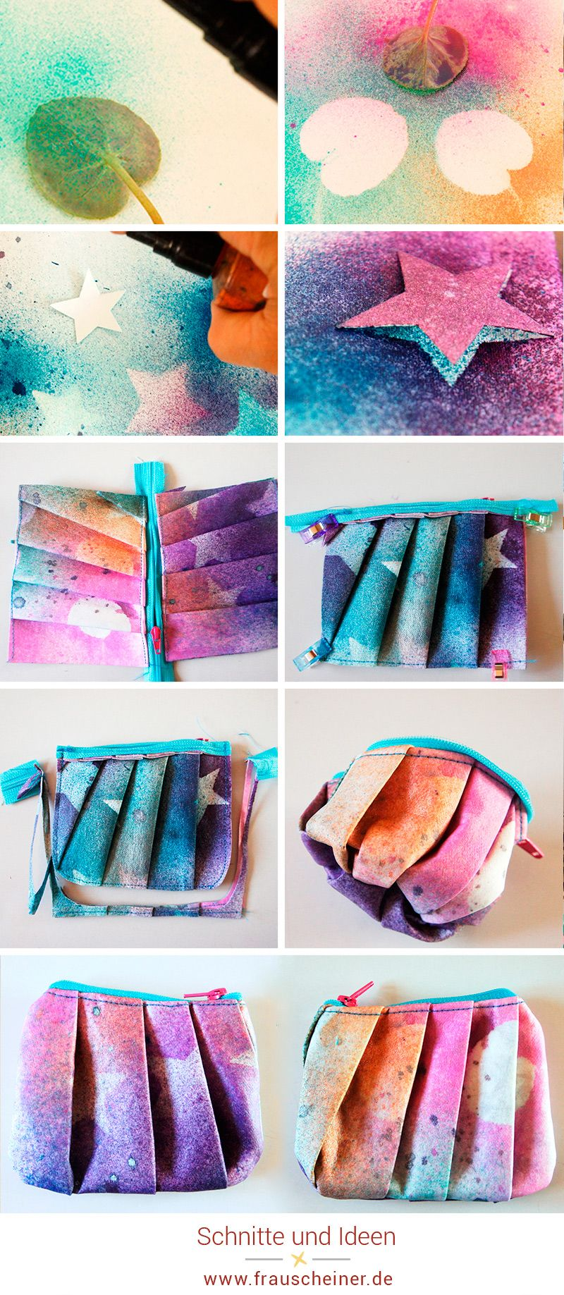 SnapPap färben und bemalen | Plissee, Färben und Schablone