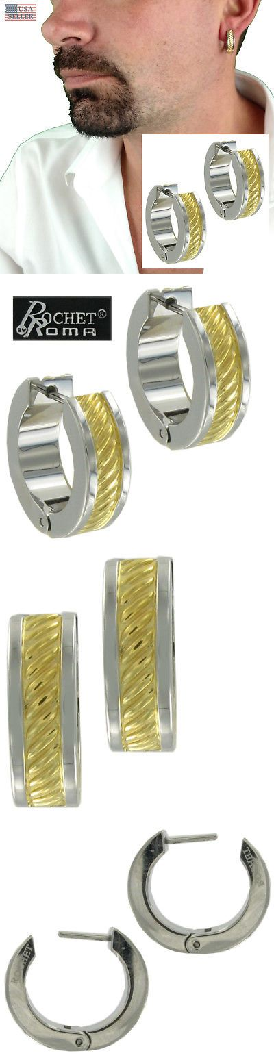 81045e1f58af6 Other Mens Jewelry 177770: Rochet Hoop Earrings Mens Stainless Steel ...