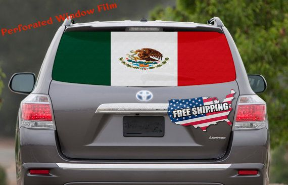 Mexican Flag Car Window Wrap Decal Mexico Car Graphics Decal Etsy Car Graphics Decals Window Decals Car Window