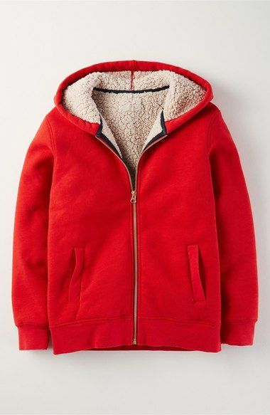 Mini Boden 'Borg' High Pile Fleece Lined Hoodie (Toddler Boys, Little Boys & Big Boys) available at #Nordstrom