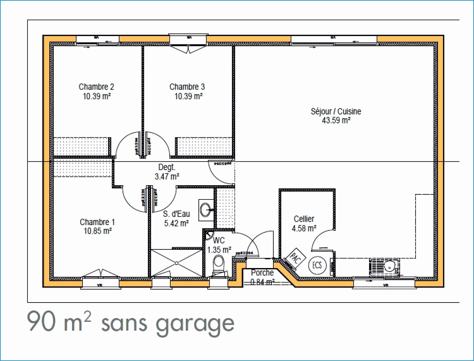 30 Plan Maison 60m2 Plain Pied 2 Chambres How To Clean Pillows How To Plan Cleaning Clothes