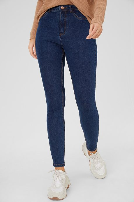 The Skinny Jeans Jeans Azul Oscuro Outfit Pantalon De Mezclilla Jeans Azul