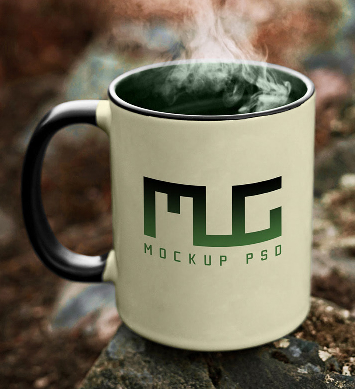 Free Download Stylish Coffee Cup PSD Mockup Freebies in
