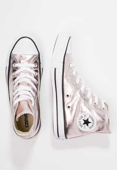 7513c05abc8350 Converse CHUCK TAYLOR ALL STAR METALLIC CANVAS - Baskets montantes - rose  quartz white black - ZALANDO.FR