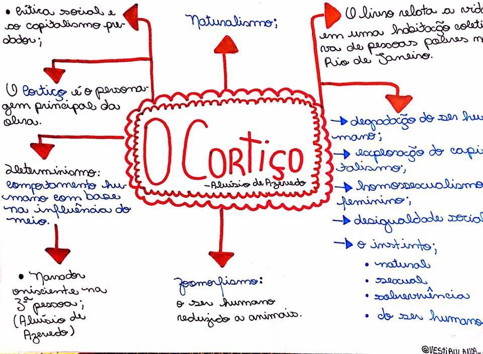 O Cortiço | Mapa Conceitual | Mapas mentais, Resumo o cortiço e Estudar enem