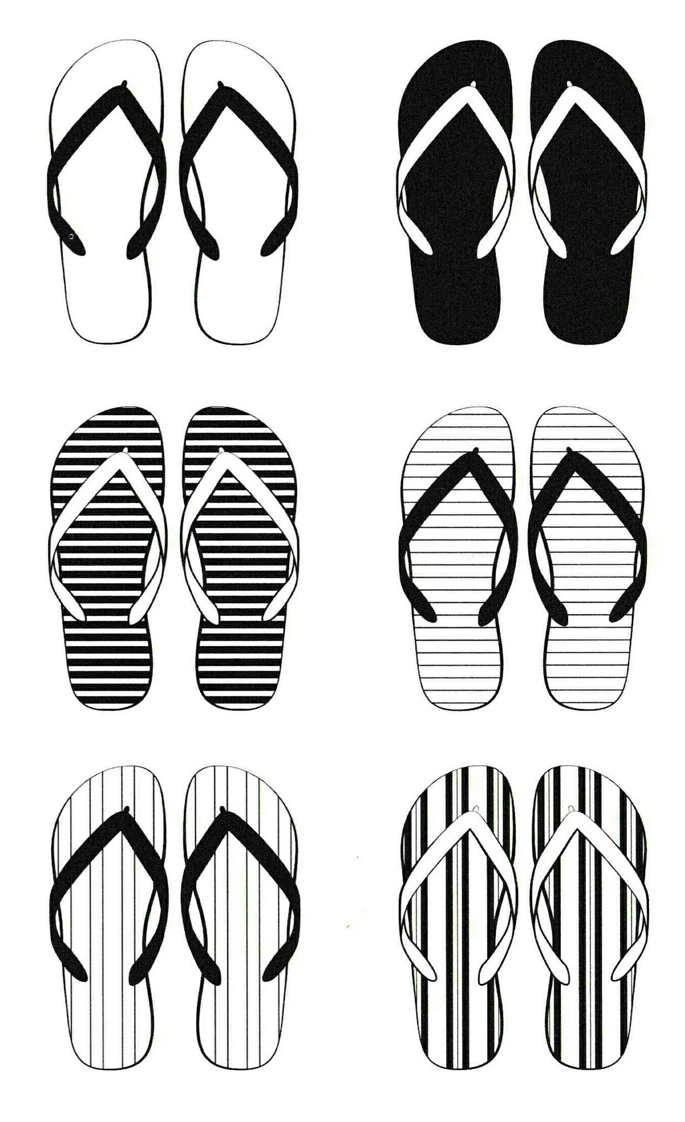 Pin By Kristyna Vinicka On Omalovanky Flip Flop Images Collection Flip Flop Shoes
