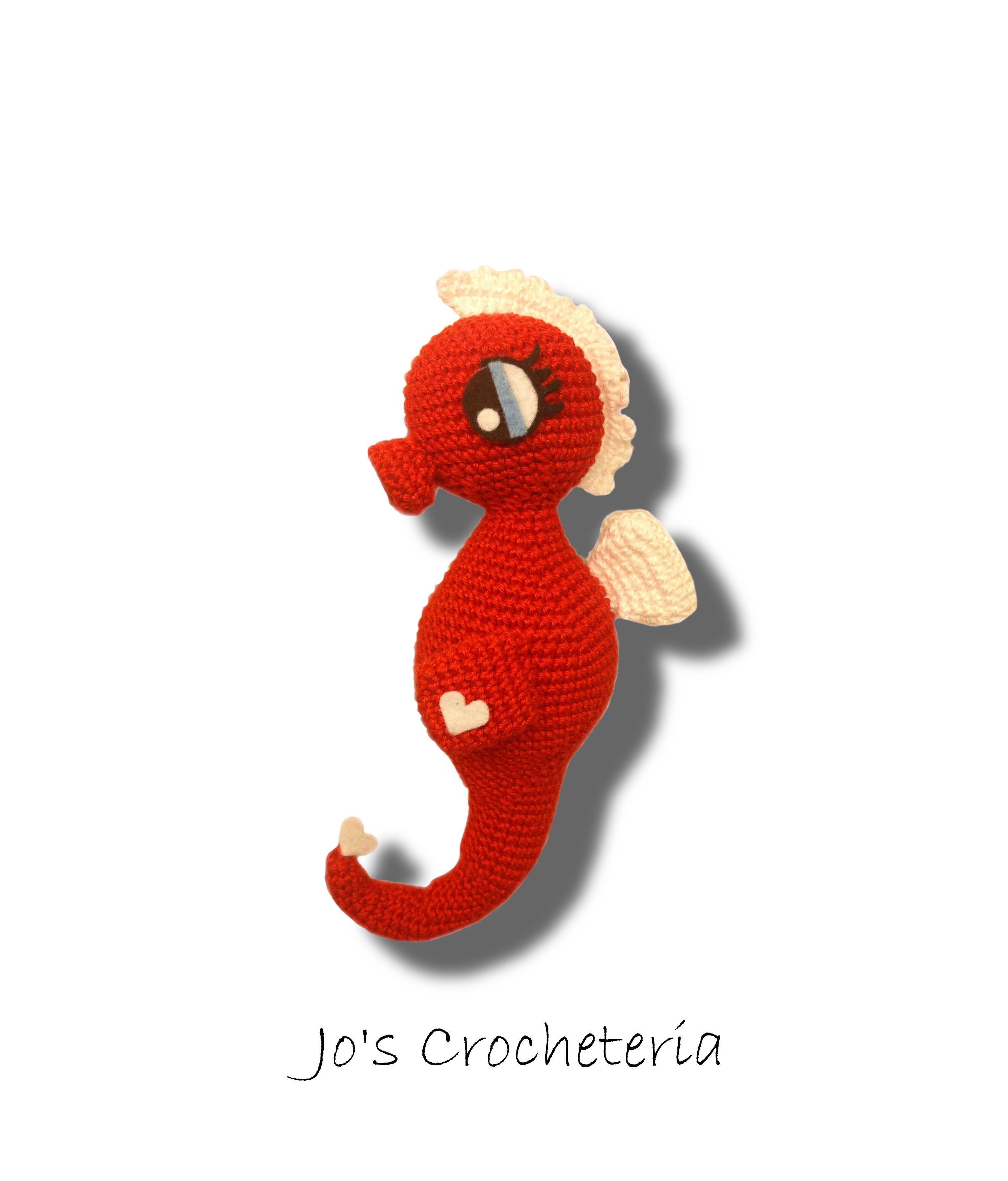 Free Crochet Pattern Seahorse Amigurumi By Jos Crocheteria