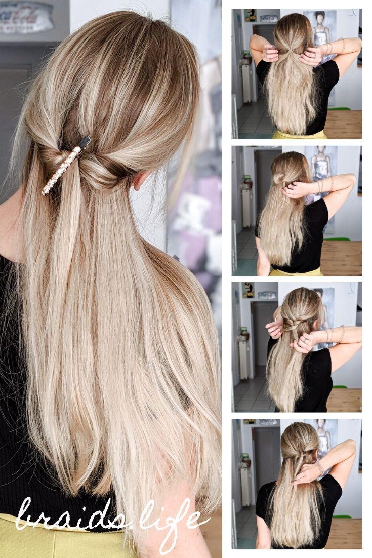 Frisuren Weihnachten Frisuren Anleitung Ganz Einfache Halboffene Frisur Fur Weihnachten Und Festliche Anlasse Cool Hairstyles Hair Styles Long Hair Styles