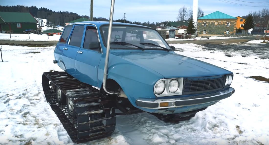 1977 Renault 12 Into An Off Roader With Tracks Renault Turkish Men Custom Cars