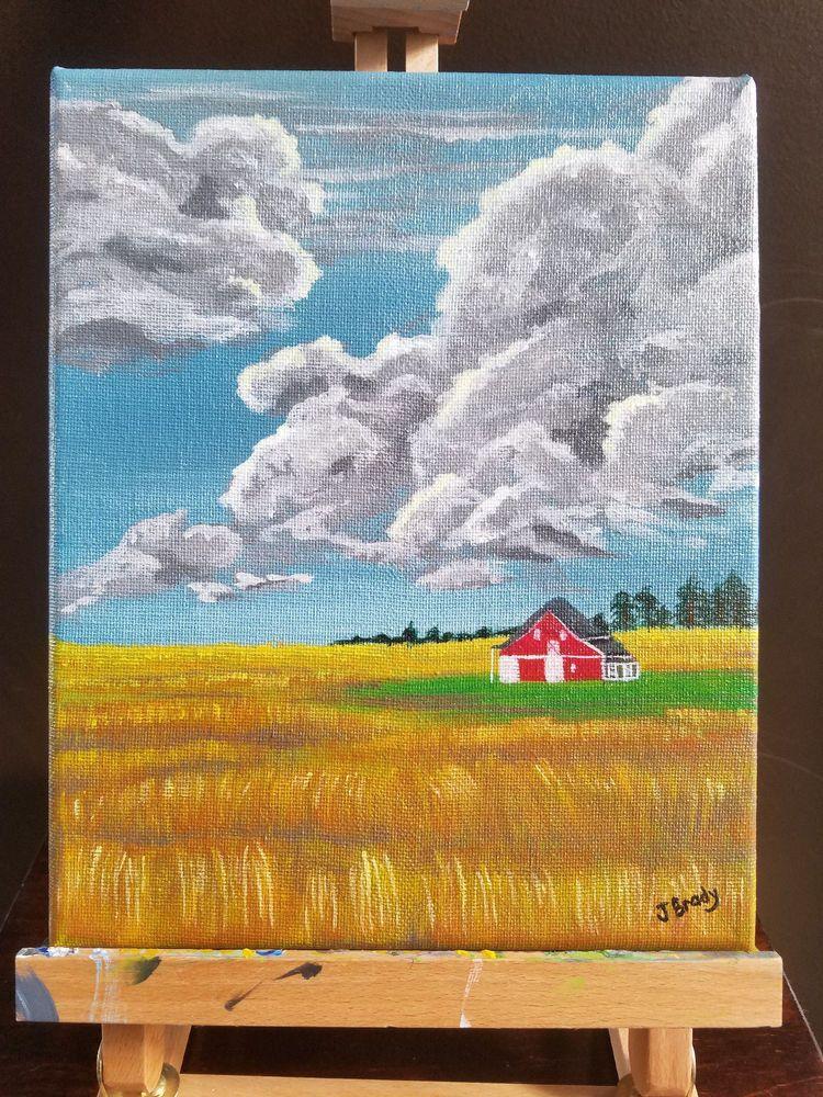 Original Acrylic Painting 8 X 10 Farm Painting Barn Storm Country Painting Painting Ideas Painting Paintings Painting Farm Paintings Country Paintings