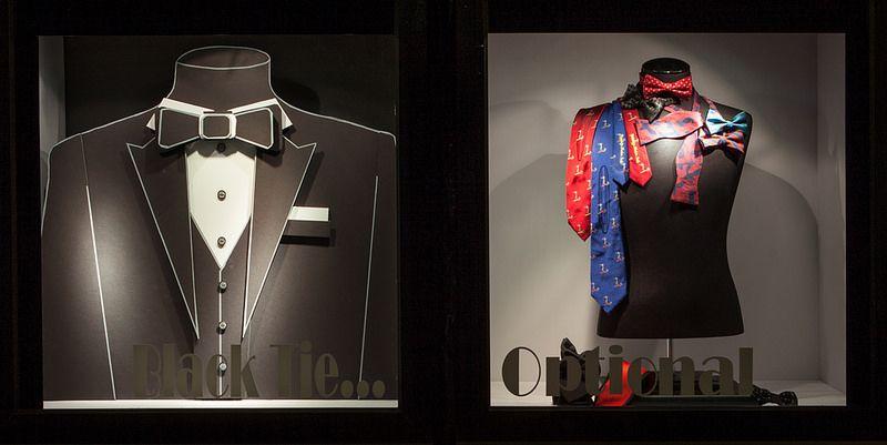 Black & White Paper/Foamcore Windows 2014, Visual Merchandising Arts. School of Fashion at Seneca College.
