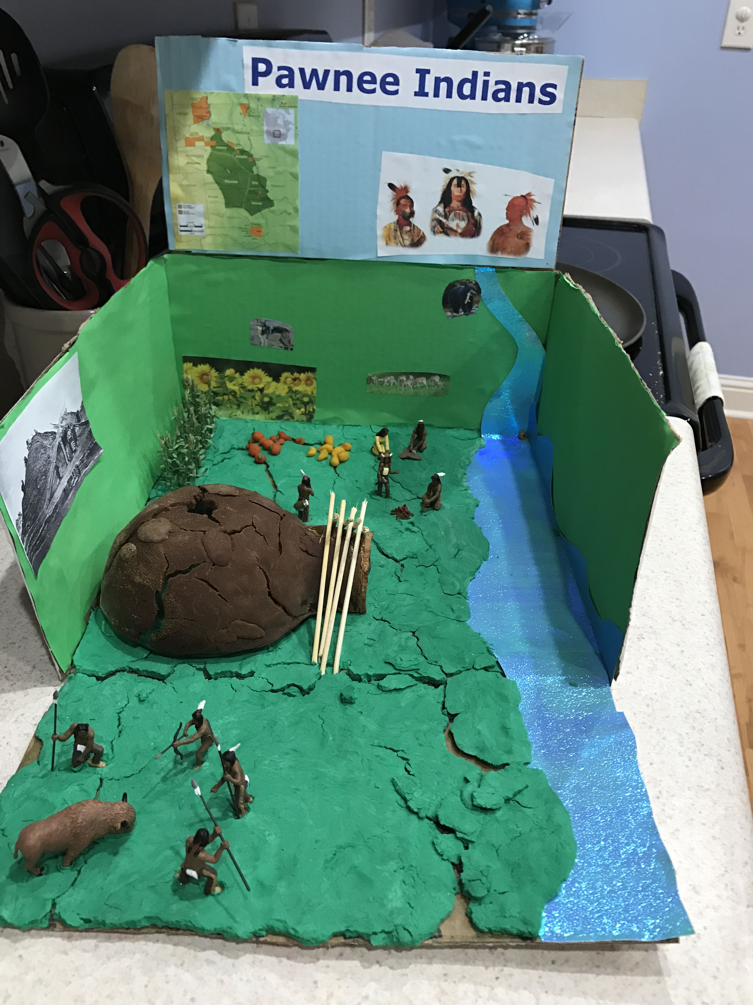 Pawnee Indians Diorama School Projects Indian project