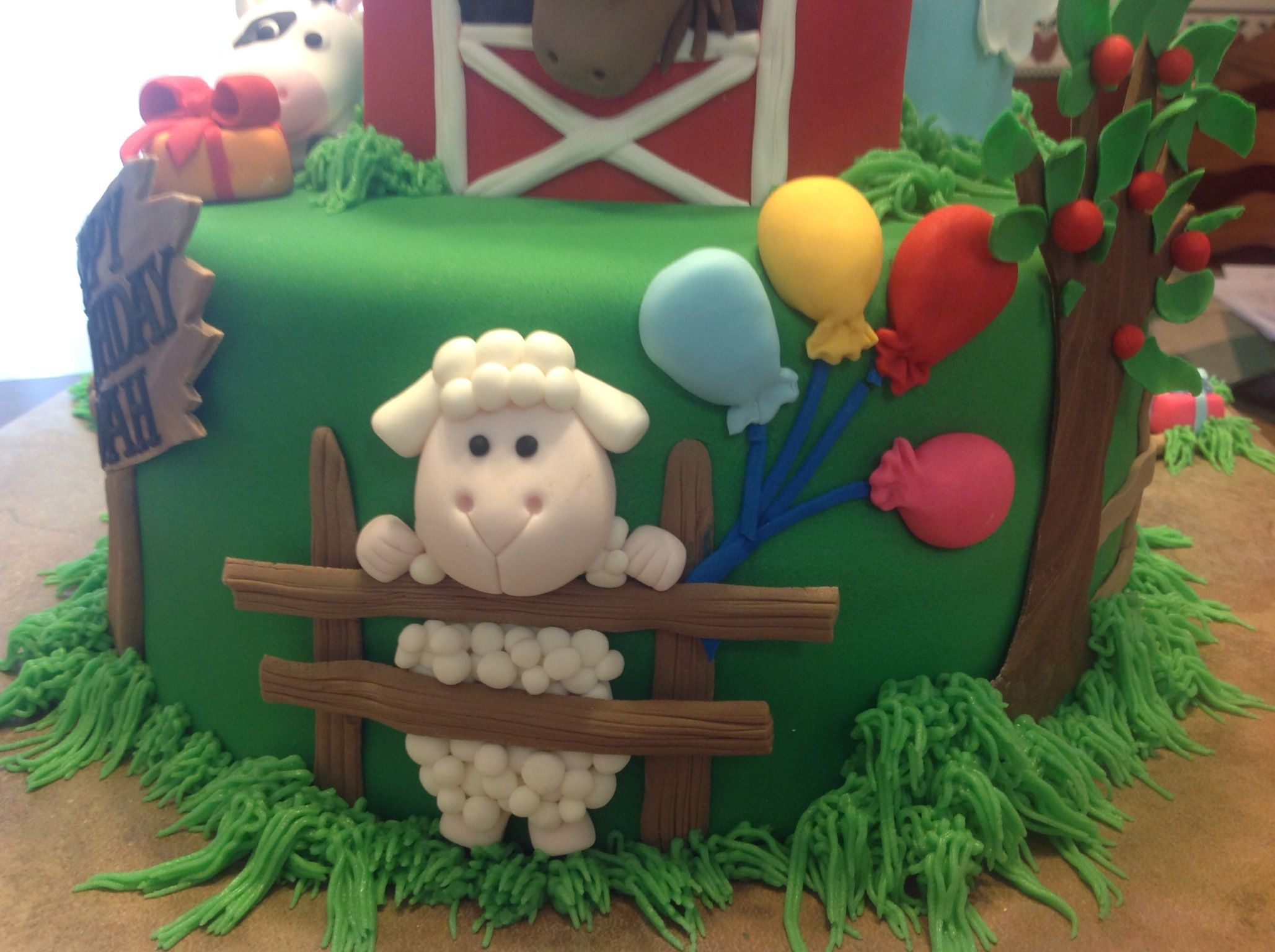 Торт для фермера из мастики фото