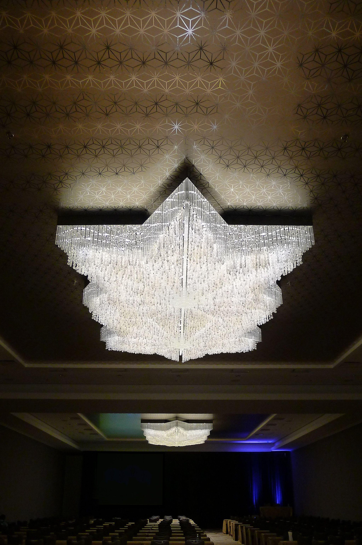 Ballroom chandelier capiz shells and fluted crystal rods double chandeliers ballroom chandelier capiz shells and fluted crystal rods double star shaped chandelier i arubaitofo Gallery