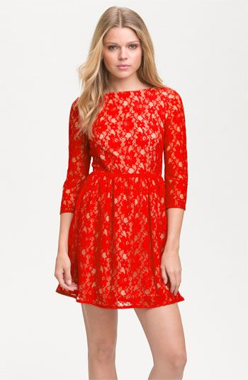 French Connection 'Lizzie' Lace Dress available at #Nordstrom